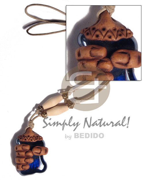 Philippines 40mmx30mm clay fingers adjustable necklace