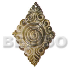 Philippine blacklip diamond carving 55mm carved pendants