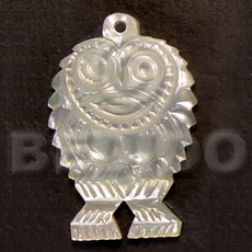 Unisex owl mop carving 40mm carved pendants