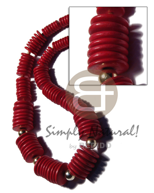Philippines graduated 20mm 15mm 10mm deep red coco choker necklace