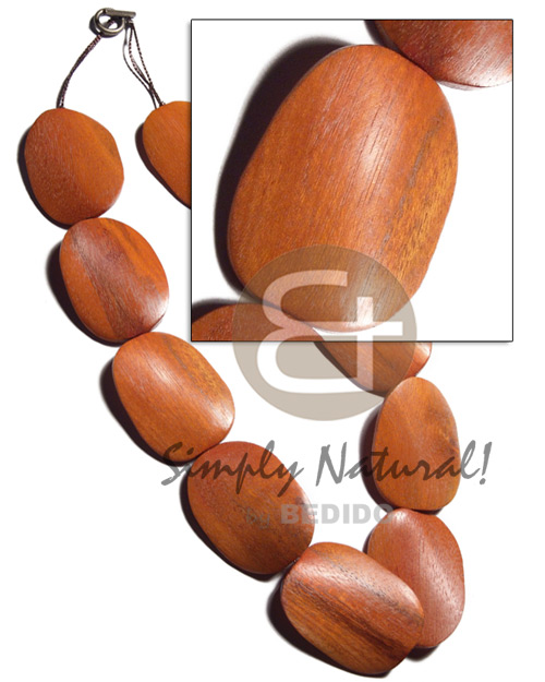 Wholesale 30mmx40mmx6mm redwood sibucao twisted chunky necklace
