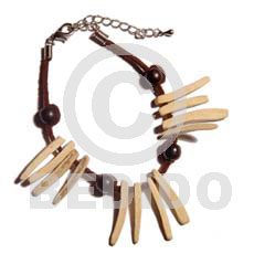 Ladies bleached coco indian stick coco bracelets