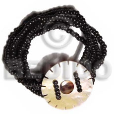 Natural 5 layers elastic 2-3mm coco coco bracelets