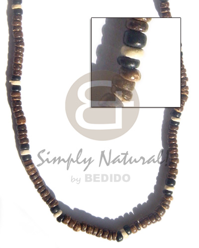 Unisex 4-5 coco pukalet natural brown coco necklace