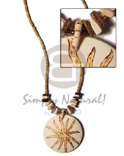 Unisex 2-3mm coco heishe tiger coco necklace