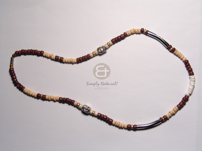 Wholesale 3 layers 2-3mm coco heishe coco necklace