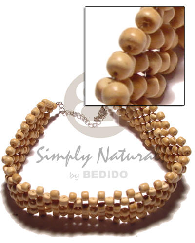 Wholesale 3 layer 4-5mm natural coco coco necklace
