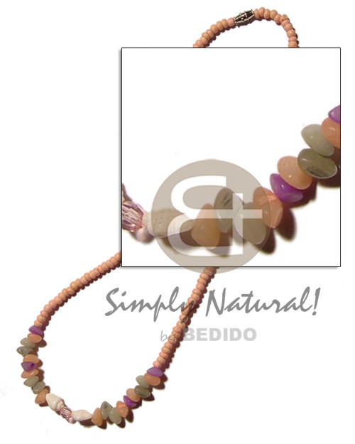 Ladies 2-3 pink coco pokalet coco necklace
