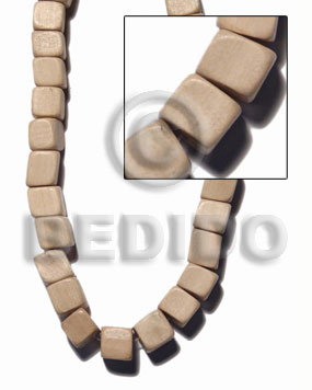 "Wholesale ""natural white wood"" slide cube dice & sided wood beads"