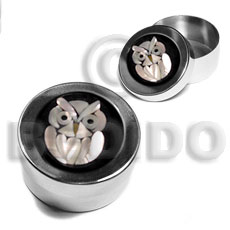 Handmade stainless metal round casing gifts & home table decor set