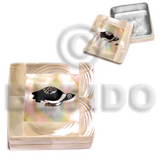 Natural stainless square metal casing gifts & home table decor set