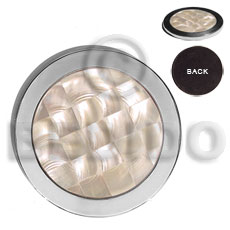 Fashion stainless metal coaster inlaid gifts & home table decor set
