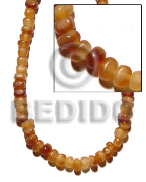 Ethnic golden horn thin nuggets horn beads