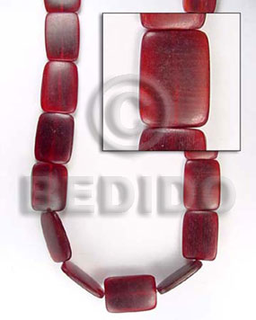 Native red horn flat square horn beads