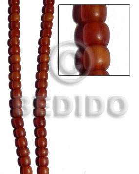 Teens golden horn amber barrel rounded horn beads
