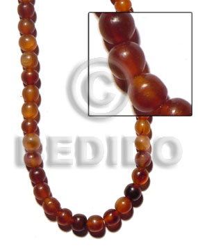 Philippines amber golden horn beads 10mm horn round beads