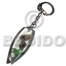 Ethnic 50mmx27mm transparent clear white keychain
