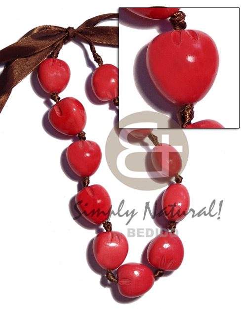 Wholesale kukui nut choker in kukui necklace