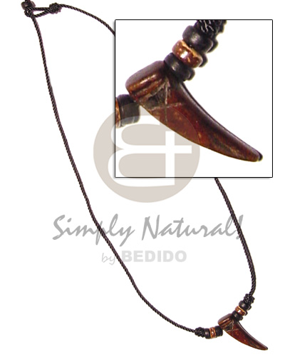 Ladies antique horn coco beads mens necklace