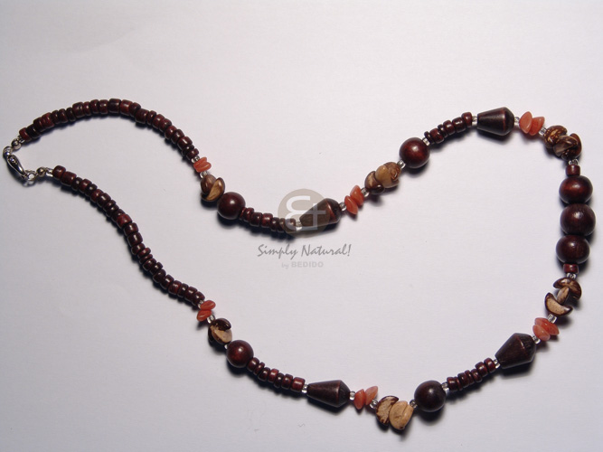 Unisex 3 layers glass beads pink rose multi row necklace