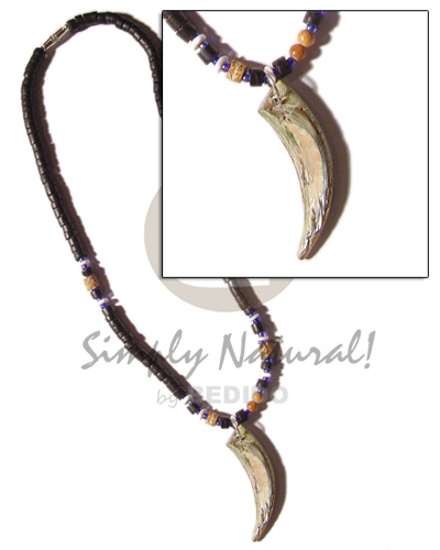 Fashion 4-5mm black coco heishe natural earth color necklace