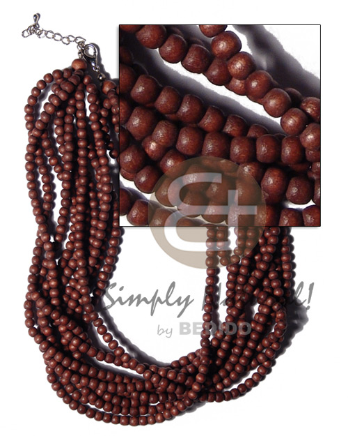 Philippine 10 layers multilayered natural round natural earth color necklace