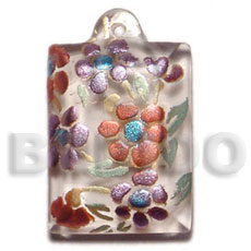 Teens dogtag 45mmx30mm clear white resin resin pendants