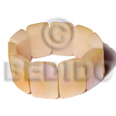 Native 30mmx20mm mop resin backing shell bangles