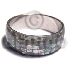 Wholesale natural abalone shell blocking in shell bangles