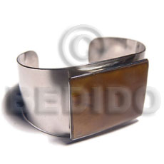 Wholesale haute hippie 38mmx23mm metal cuff shell bangles