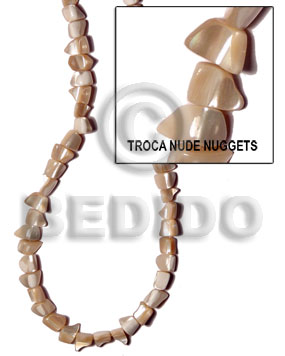 Wholesale troca natural nude nuggets standing shell beads
