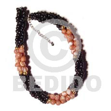 Unisex twisted black coco pokalet shell bracelets