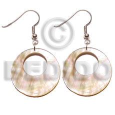 Philippines dangling 35mm round mop shell earrings