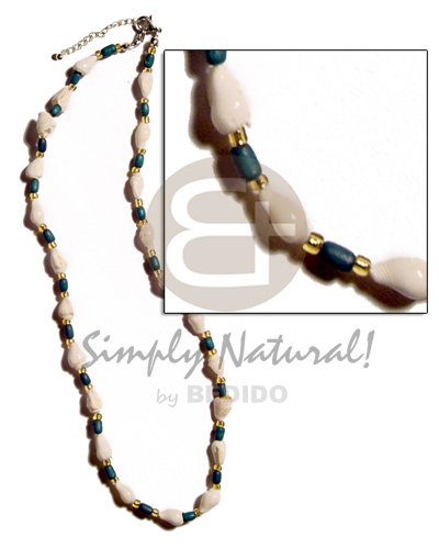 Philippine nassa tiger rice wood shell necklace