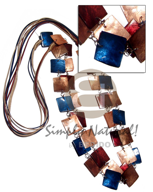 Cebu 6 layers satin cord shell necklace