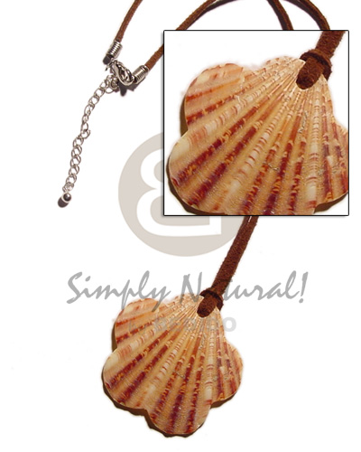 Natural scallop palium pigtim shell pendant shell necklace