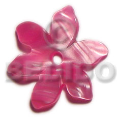 Wholesale 35mm kabibe colored flower shell pendant