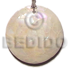 Handmade round green shell cracking shell pendants
