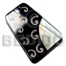 Philippines 60mmx45mm 7mm thickness everlasting shell pendants