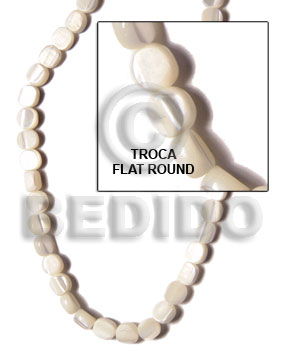 Ladies troca sidedrill flat round 6-7mm special cuts shell beads