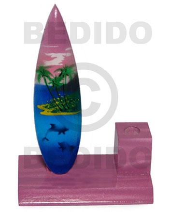 Cebu 4inx3inx1.5in handpainted wood surfboard single surfboards