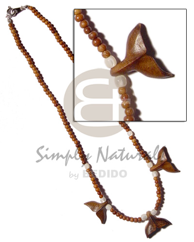 Philippine 3-4mm bayong wood beads teens necklace