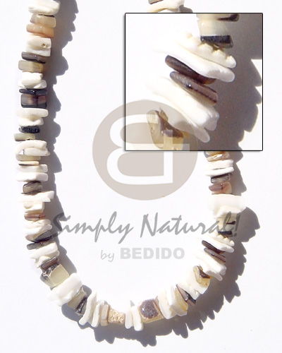 Native white rose hammershell natural unisex necklace