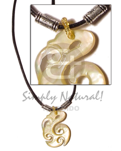Unisex celtic mop in wax cord unisex necklace