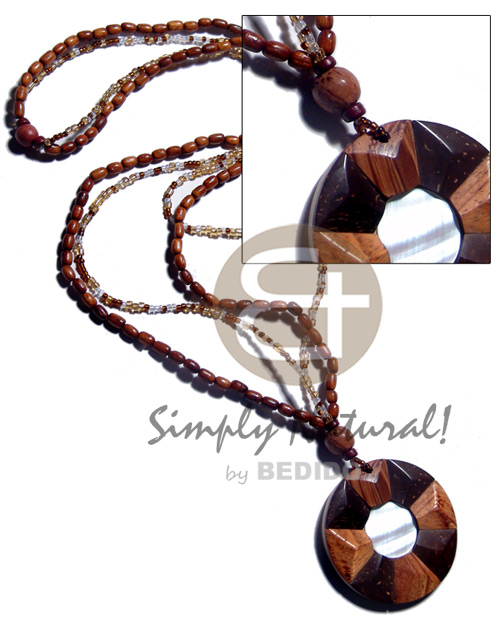 Unisex 2 layers lacquered bayong ricebeads womens necklace