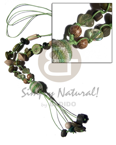 Philippines 2 layers knotted wax cord womens necklace