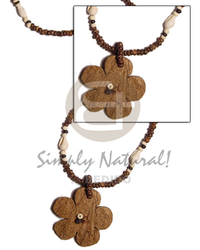Natural 2-3 coco pokalet brown womens necklace