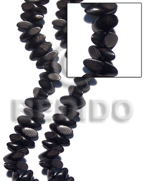 Teens black camagong slidecut 8mmx15mmx20mm wood beads
