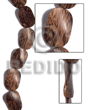 Handmade 30mmx40mmx6mm patikan old palmwood twisted wood beads