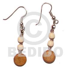 Philippine dangling coco sidedrill wood wood earrings